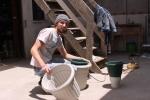 Tobias bei der Arbeit
