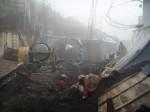 Trotz Regen und Nebel wird gearbeitet