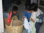 families buying clothes